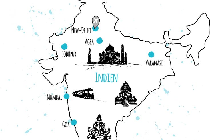 länder und orte indien