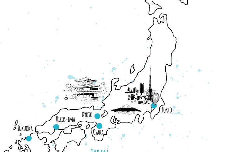 länder und orte japan