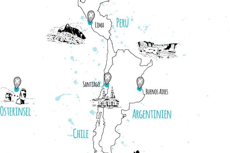 laender und orte ecuador peru chile argentinien