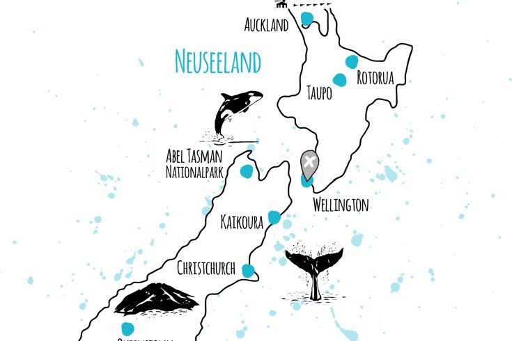 länder und orte neuseeland
